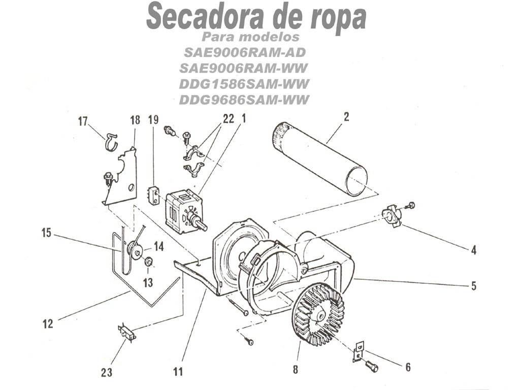 Fridgedaire SAE 90 RAMD Secadora SAE9006RAM AD pdf