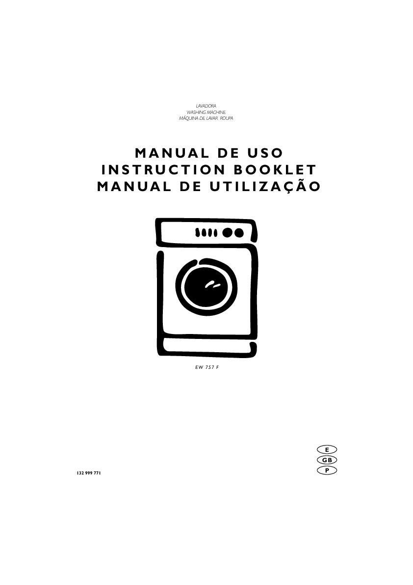 Electrolux ELECTROLUX EW757F pdf Diagramas de lavarropas