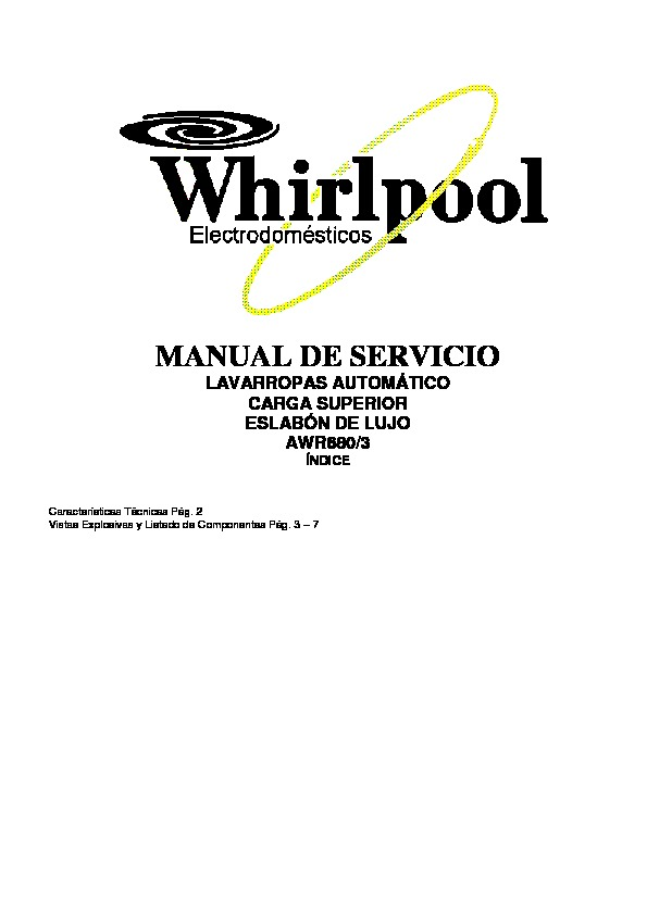 eslabon de lujo AWR680/3 DESPIECE AWR 680 3 pdf Diagramas