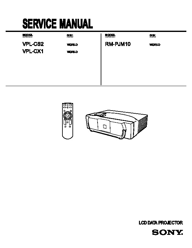 Sony VPL CS2 VLP CX1 pdf Diagramas de televideo tv vcr tv