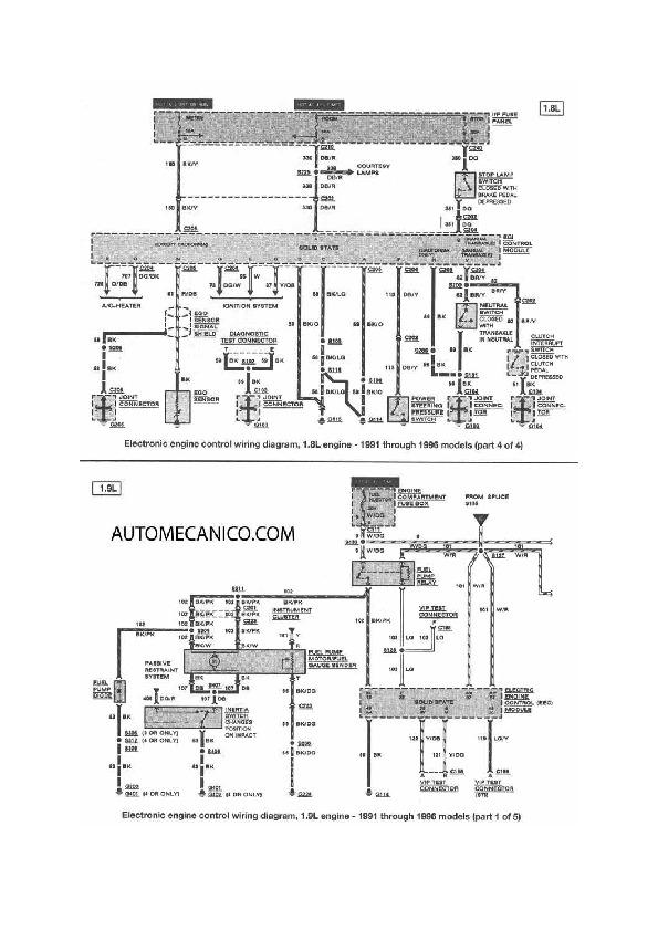 FORD Escort 10/48 fordesc6 pdf Diagramas de autos