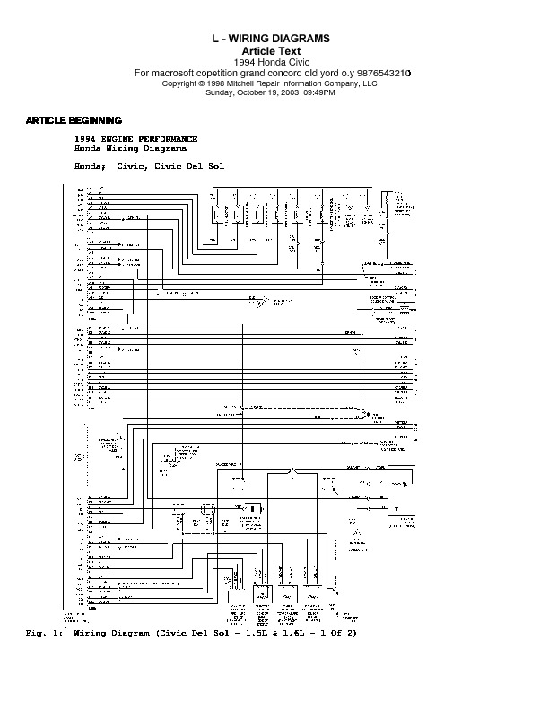 HONDA diagramas honda civic pdf Diagramas de autos
