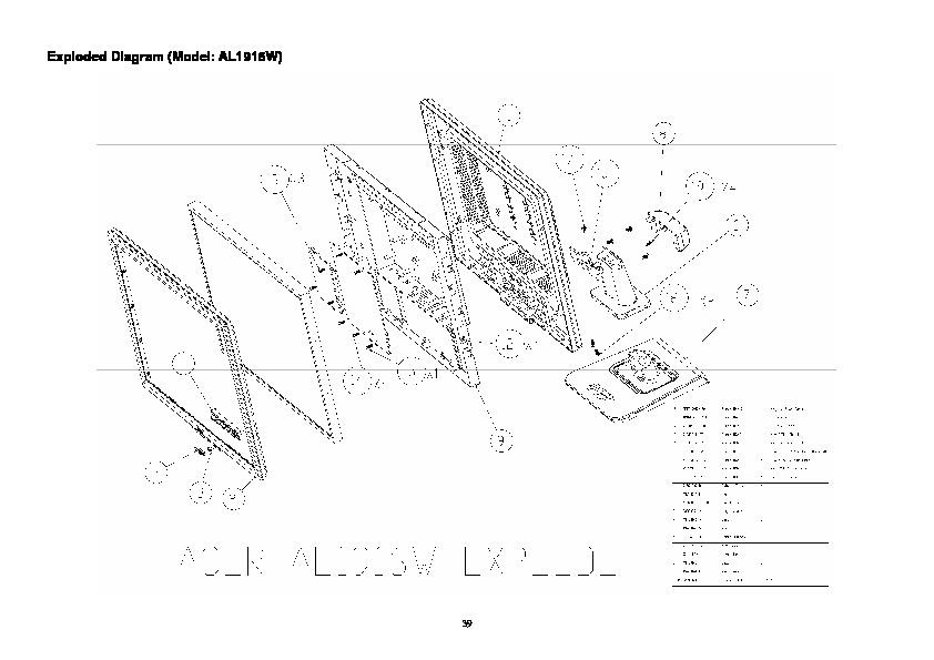 Acer acer AL1916W acer AL1916W pdf Diagramas de monitores