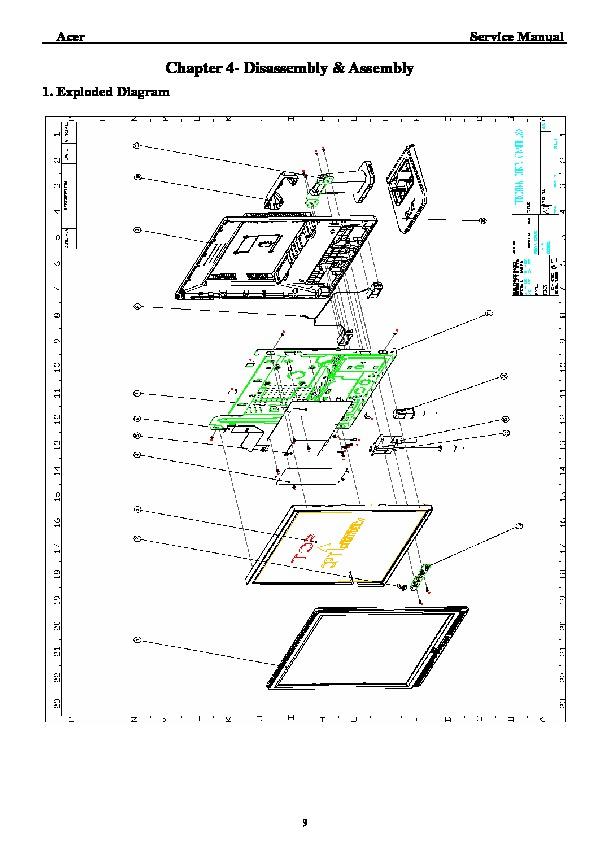 Acer acer al1717 AL1717x Acer LCD display pdf Diagramas de