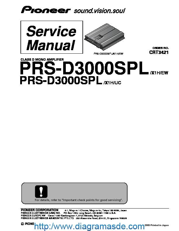 PRS D3000SPL class D mono amplifier pdf PRS D3000SPL class