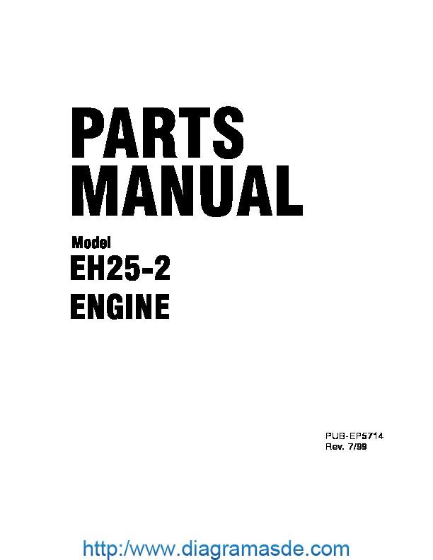 Subaru Robin EH25-2 Manual de Partes pdf Subaru
