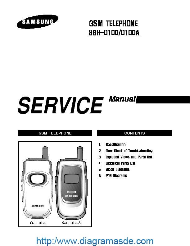 Samsung SGH D100 service manual pdf Samsung SGH D100