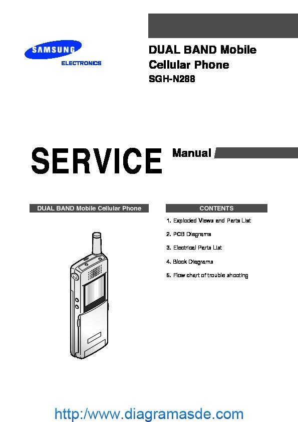 Samsung SGH N288 service manual pdf Samsung SGH N288
