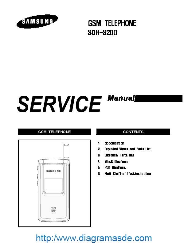 Samsung SGH S200 service manual pdf Samsung SGH S200