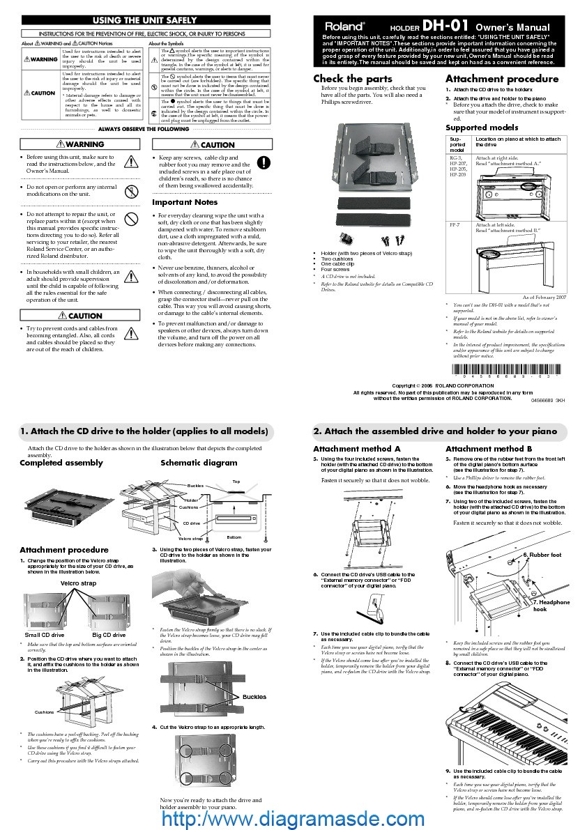 Roland DH 01 Manual del Usuario pdf Roland DH 01 Manual