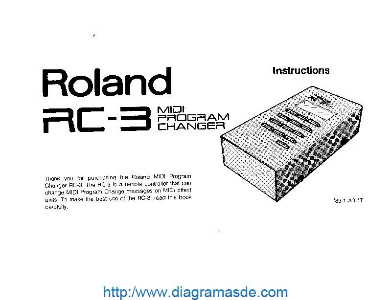 Roland RC 3 Manual del Usuario pdf Roland RC 3 Manual del