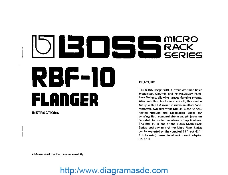 Roland RBF 10 Manual del Usuario pdf Roland RBF 10 Manual