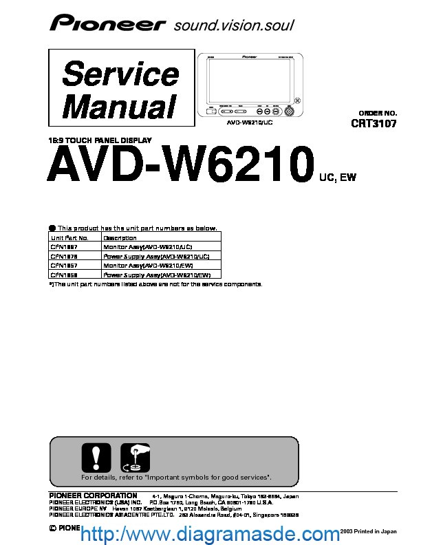 AVD-W6210 16.9 touch panel display.pdf PIONEER