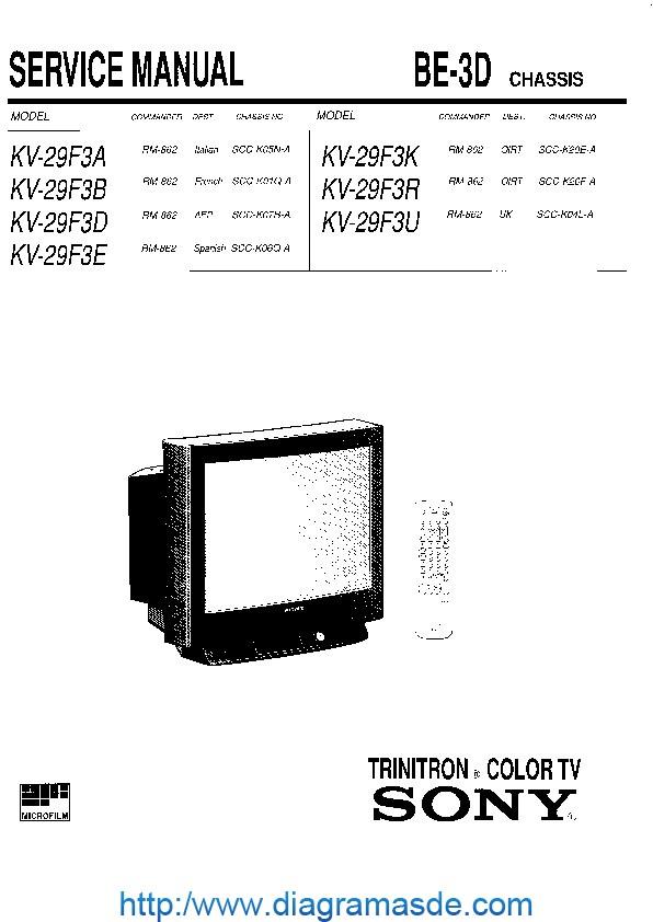 SONY KV-29F3A_B_D_E_K_R_U CH.BE-3D.pdf SONY KV-29F3A, KV