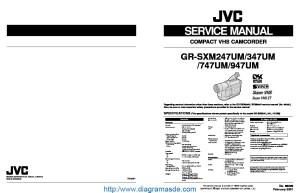 JVC Camcorder GRSXM947UM – Manual de serviciopdf JVC