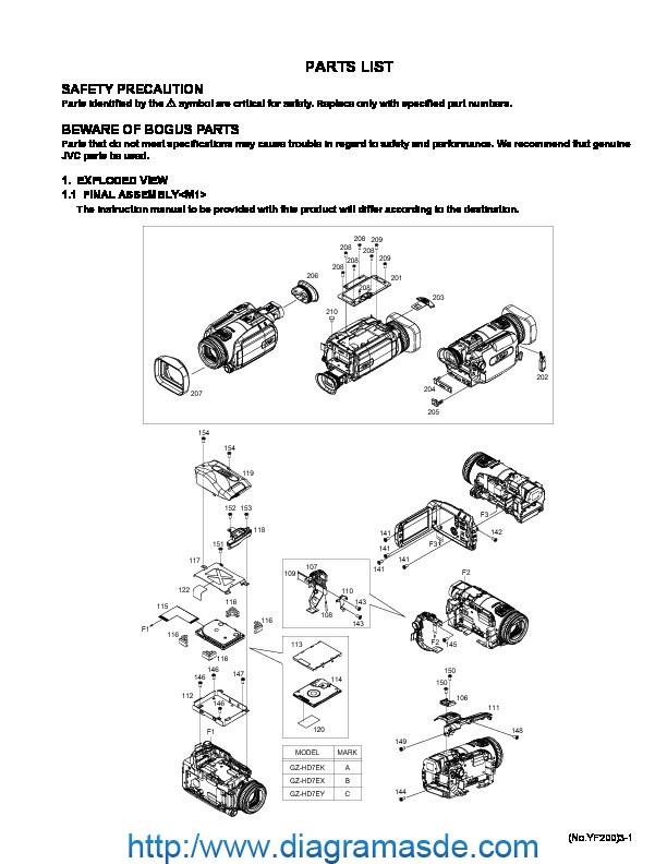 JVC Camcorder GZ-HD7EY Lista de Partes.pdf JVC