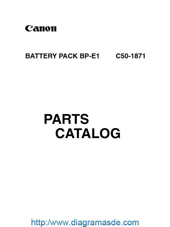Canon Battery Pack Bp-e1 Repair Manual.pdf CANON BP-E1