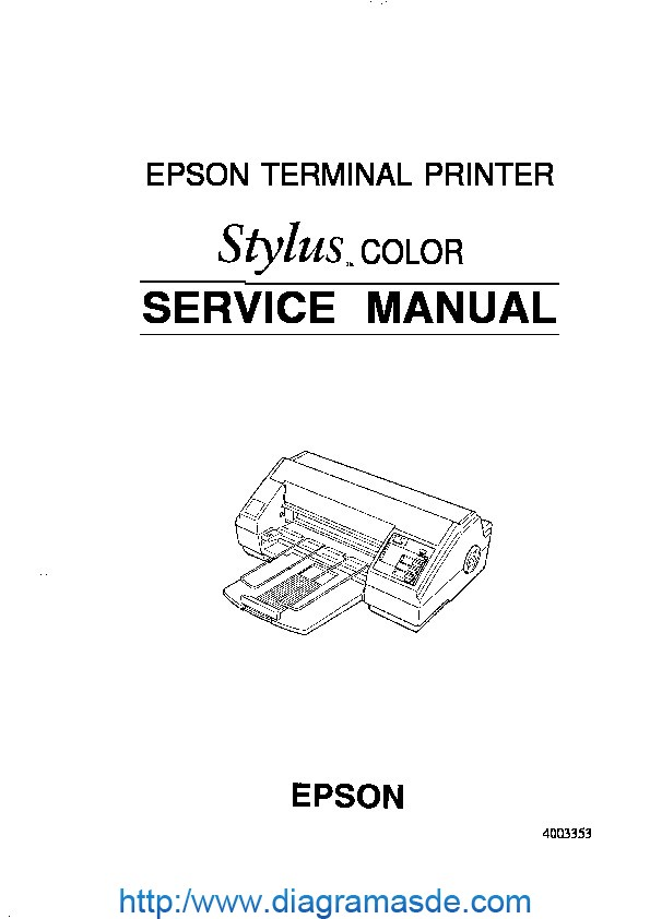 Epson Stylus Color Manual de Servicio pdf Epson