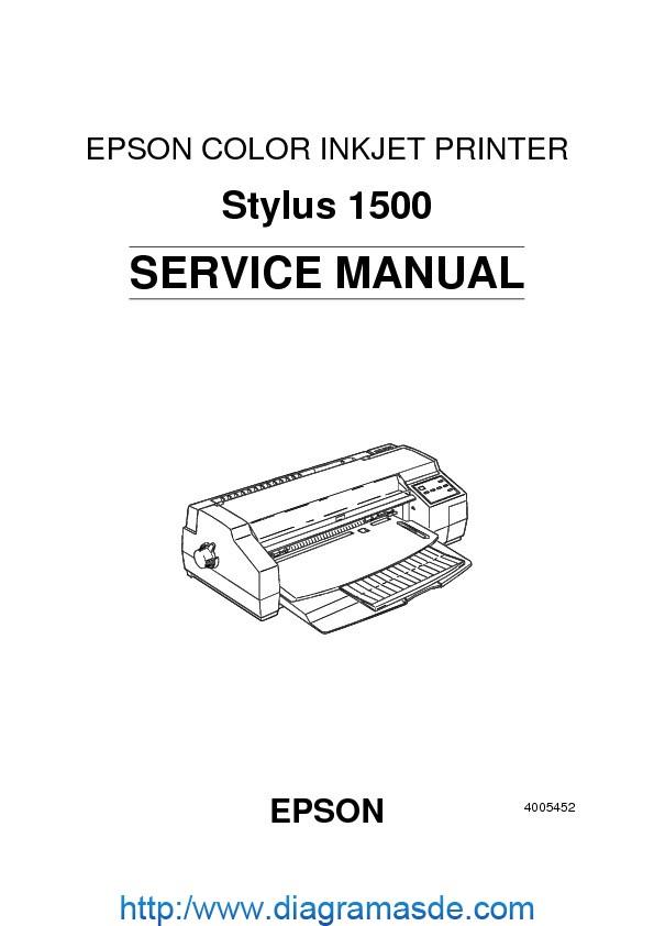 Epson Stylus 1500 Service Manual pdf Epson stylus cx1500