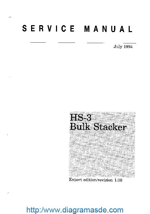 Kyocera Handler Stacker HS-3 Manual de Servicio pdf