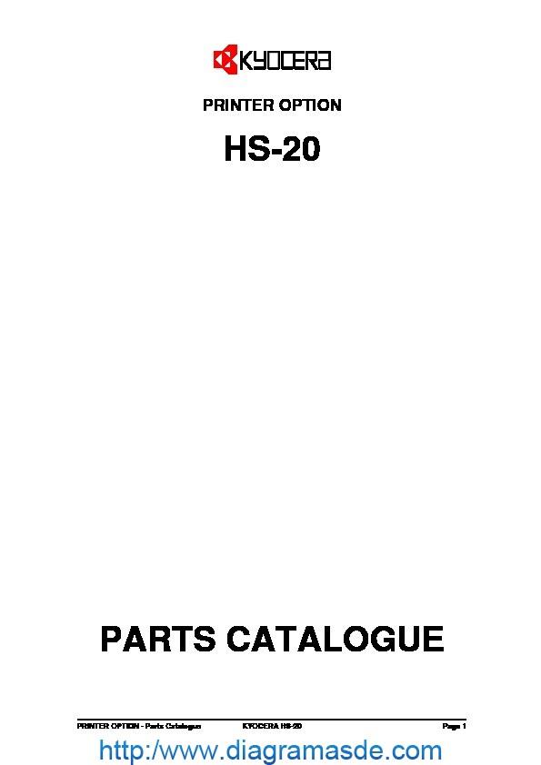 Kyocera Stacker HS-20 Manual de Partes pdf Kyocera Mita