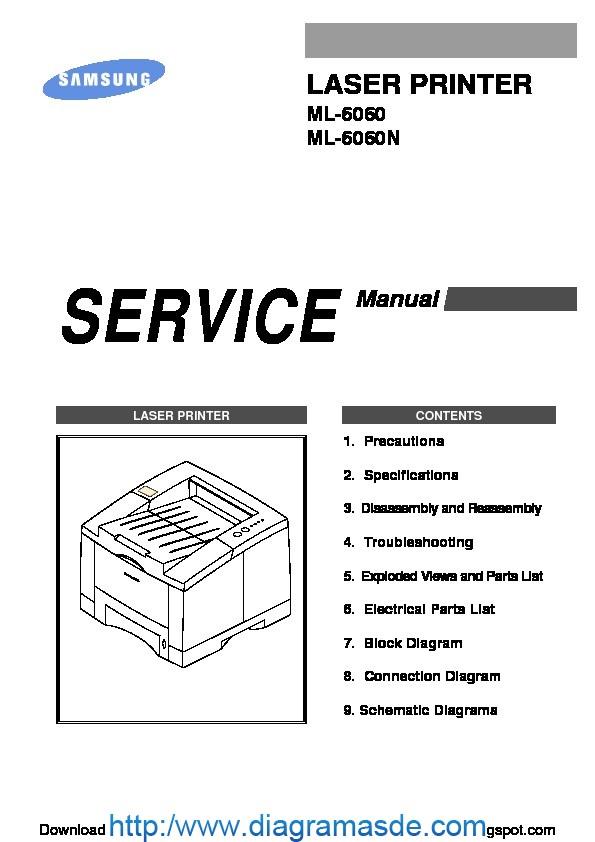 Samsung ML-6060 Manual de Servicio pdf SAMSUNG
