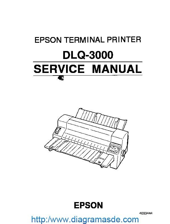 Epson DLQ-3000 Service Manual pdf Epson DLQ-3000