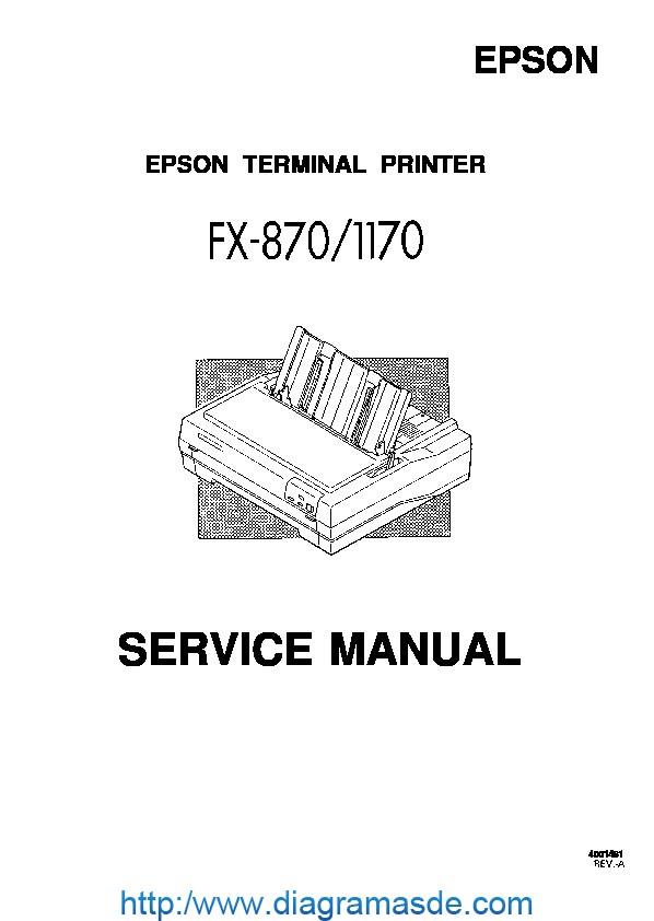 Epson FX-870 FZ-1170 Service Manual pdf Epson