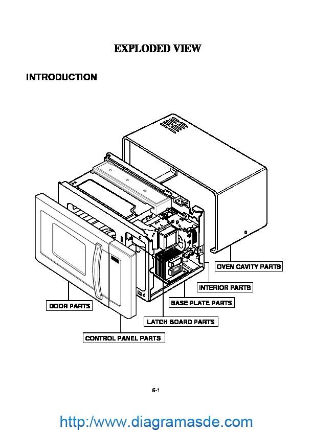 Diagrama de Ensamblaje Microondas LG modelo MG-556EL.pdf