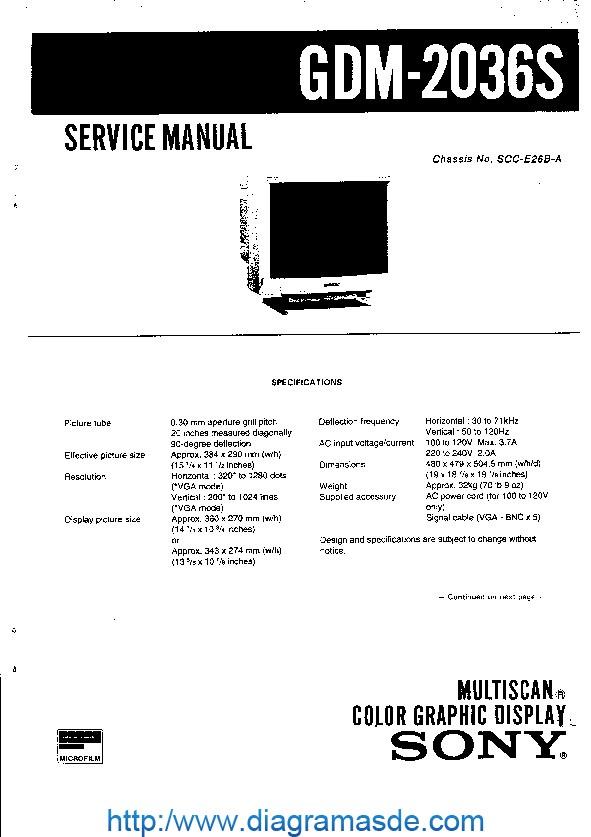SONY MONITOR GDM-2036S.pdf Sony GDM-2036S SCC-E26B-A