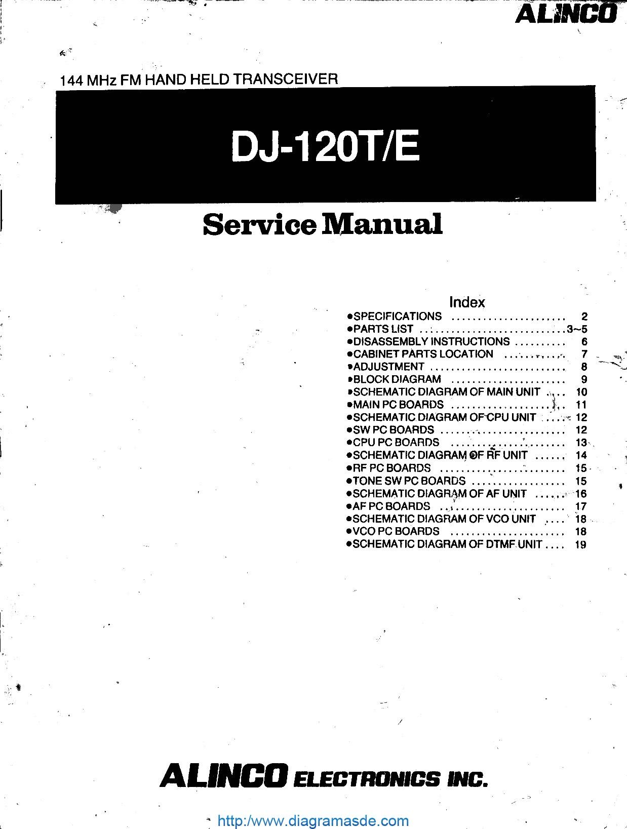 DJ-120 Service manual.pdf Alinco Alinco DJ-120T