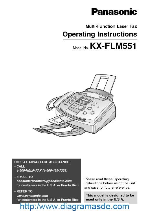 Panasonic KX-FLM551 Laser Fax Machine.pdf Panasonic