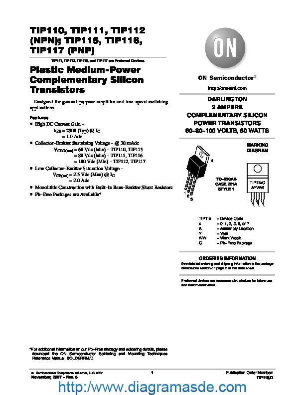 TIP110, TIP111, TIP112, TIP115, TIP116, TIP117.pdf ON