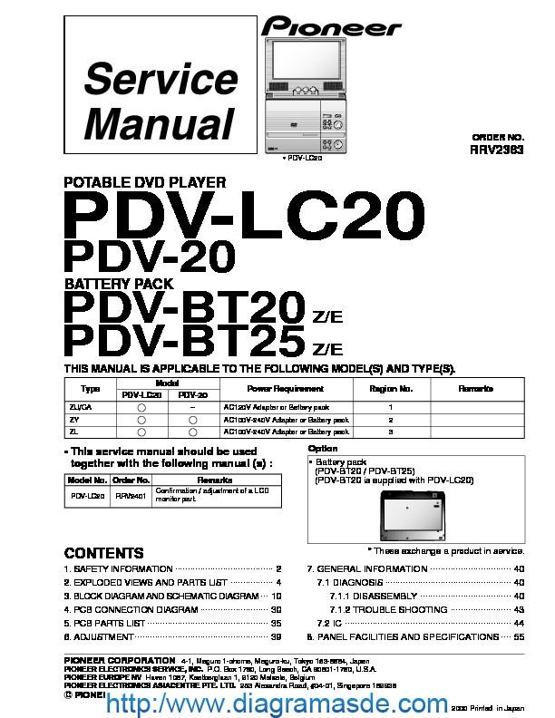 pioneer PDV-LC20,BT20,BT25 portable dvd player.pdf Pioneer