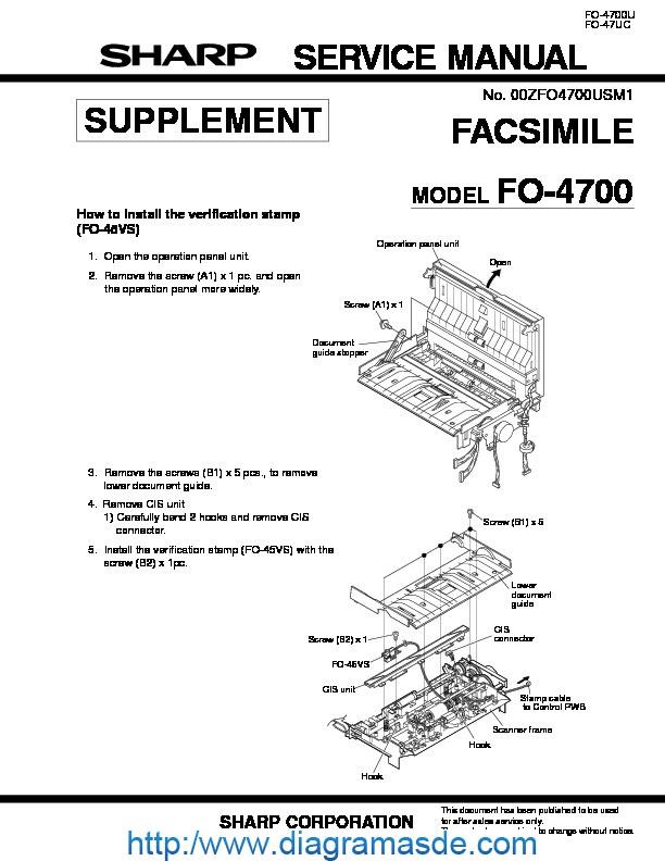 Sharp Fax FO4700U1 Manual de Servicio.PDF sharp