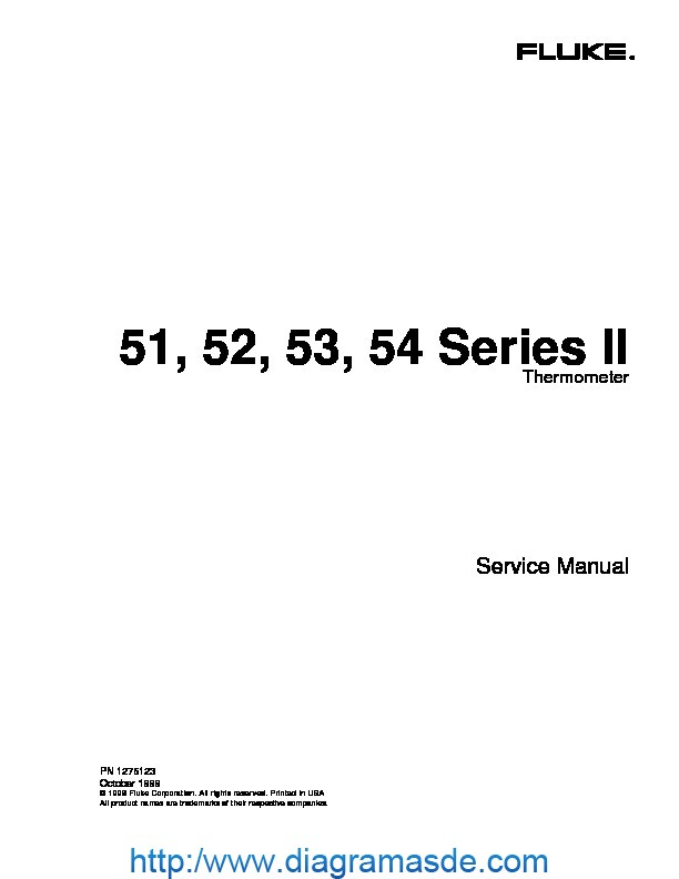 FLUKE 54II service manual pdf FLUKE 54II service manual