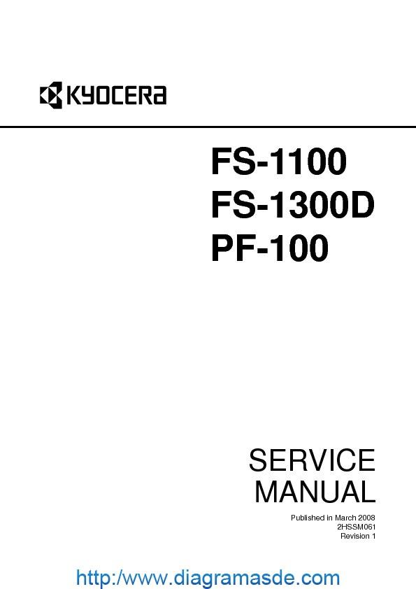 FS 1100 1300D PF100 Manual de Servicio pdf FS 1100 1300D