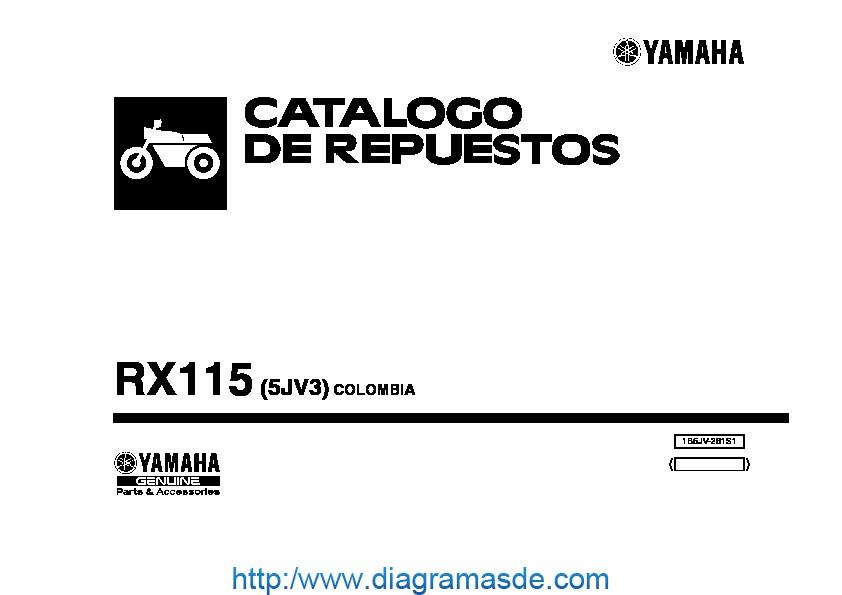 yamaha RX115 5JV3 2005 2006 pdf yamaha RX115 5JV3 2005