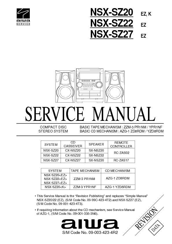 NSX SZ20 pdf NSX SZ20 pdf – Diagramasde.com