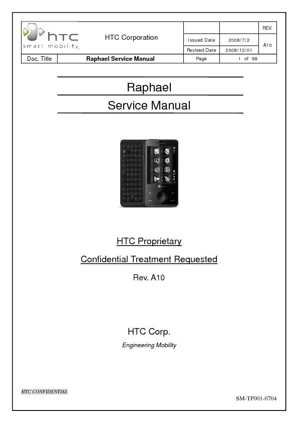 Diagrama del Celular htc HTC Raphael SM A10 GENERIC 01 Dec