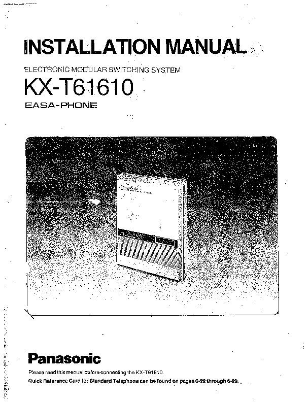 KX-T61610 Installation Programming.pdf Panasonic KX-T61610