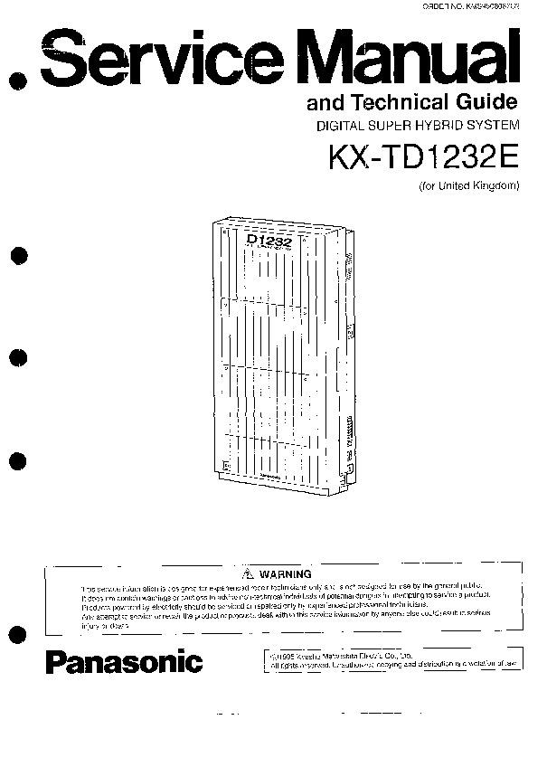 PANASONIC KX-TD1232E.pdf Panasonic KX-TD1232E