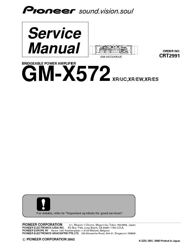GM-X572.pdf PIONEER GM-X572 – Diagramasde.com