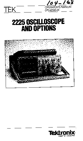 tektronix 2225 manual.pdf Osciloscopios Tektronix 2225