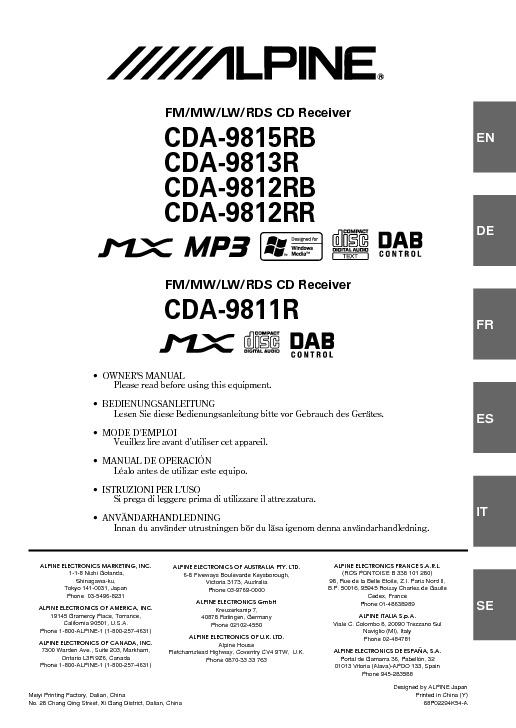 CDA-9812RB EN Owners Manual.pdf ALPINE CDA-9815RB CDA