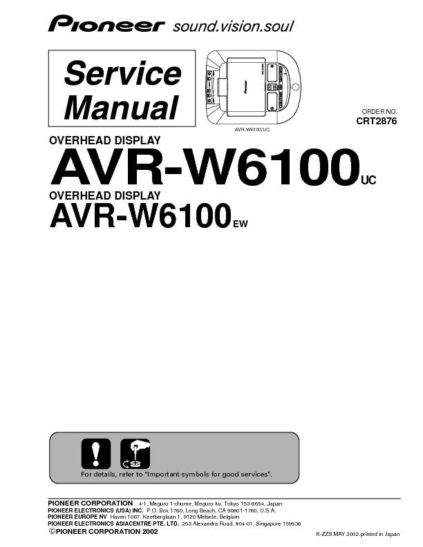 AVR-W6100 overhead display.pdf PIONEER