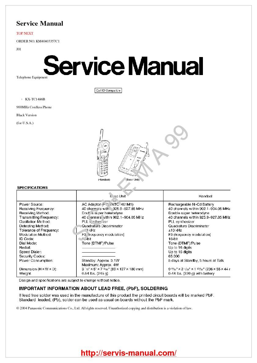 panasonic kx-tc1486b.pdf Panasonic panasoic kx-tc 1486
