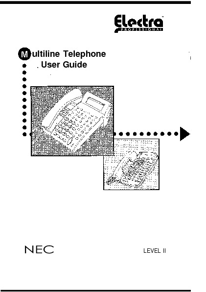 NEC Electra Pro Level II Multiline User Guide.pdf NEC