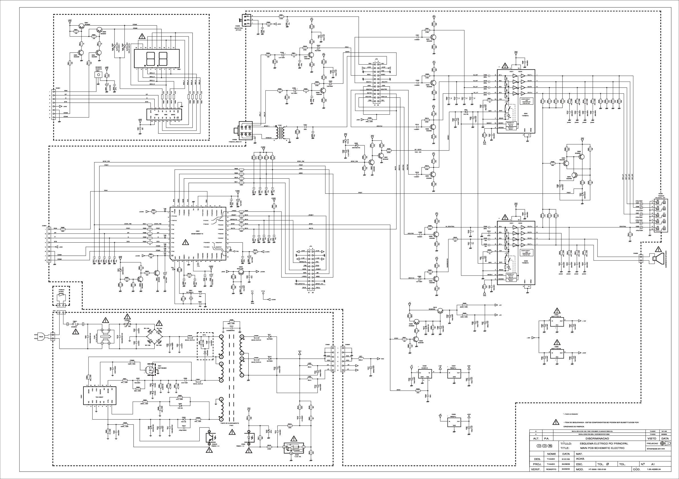 CCE HT-3000 SS-3100 HT-4000A HT-4000B Diagrama Esquematico