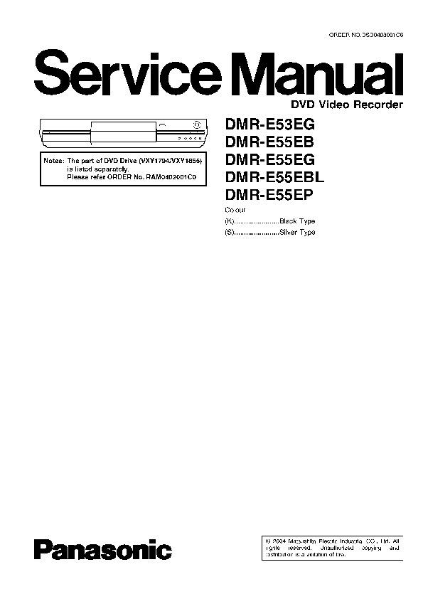 DMR-E53 E55.pdf Panasonic DMR-E53EG, DMR-E55EB, DMR-E55EG